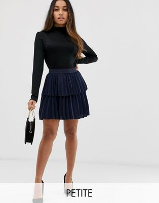 Image 1 of Y.A.S Petite Pleated Tiered Skirt