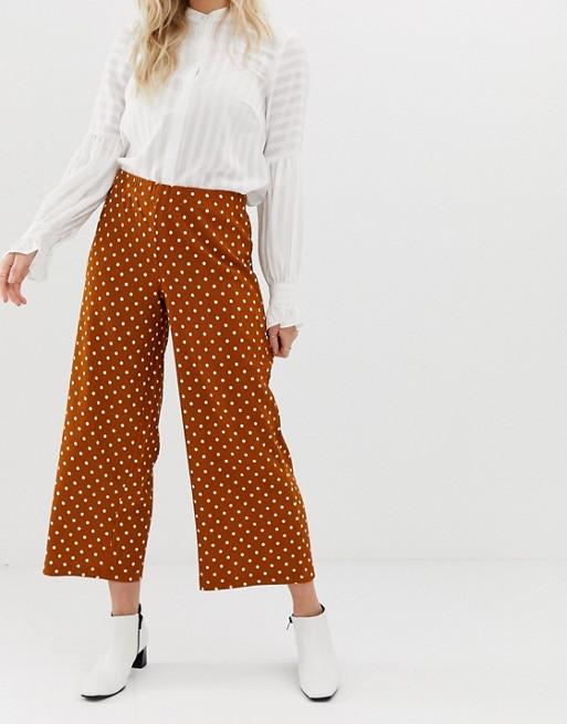 Y.A.S Petite Polka Wide Leg Pants by Y.A.S. Petite