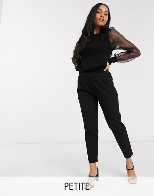 Y.A.S Petite – Svarta, figursydda byxor med elastisk midja