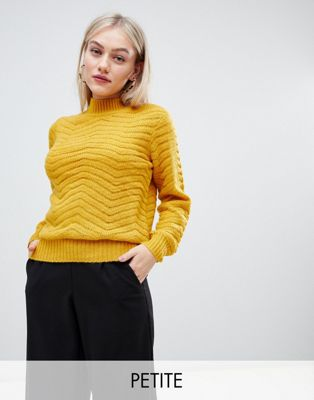 Y.A.S Petite Textured High Neck Jumper