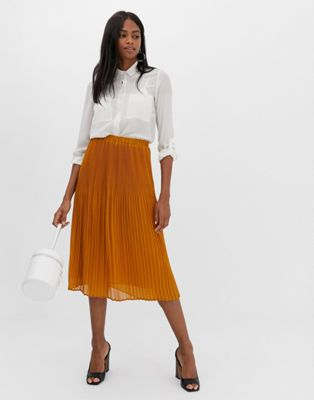 Image 1 of Y.A.S pleated midi skirt