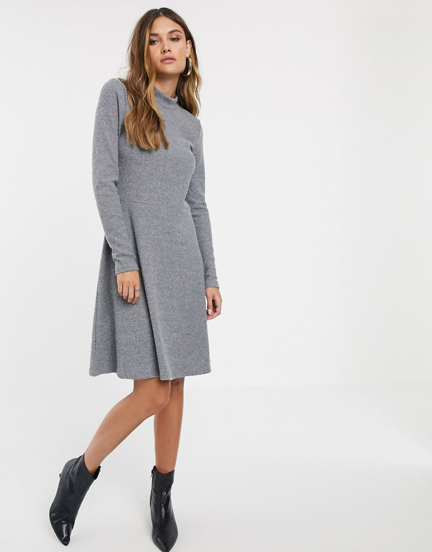 Y.A.S rib knitted mini dress-Gray – Y.A.S online sale