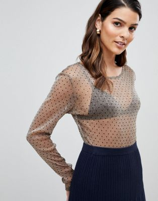Image 1 of Y.A.S Sadot Mesh Long Sleeved Top