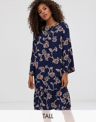 Y.A.S Tall Allover Floral Printed Shift Dress