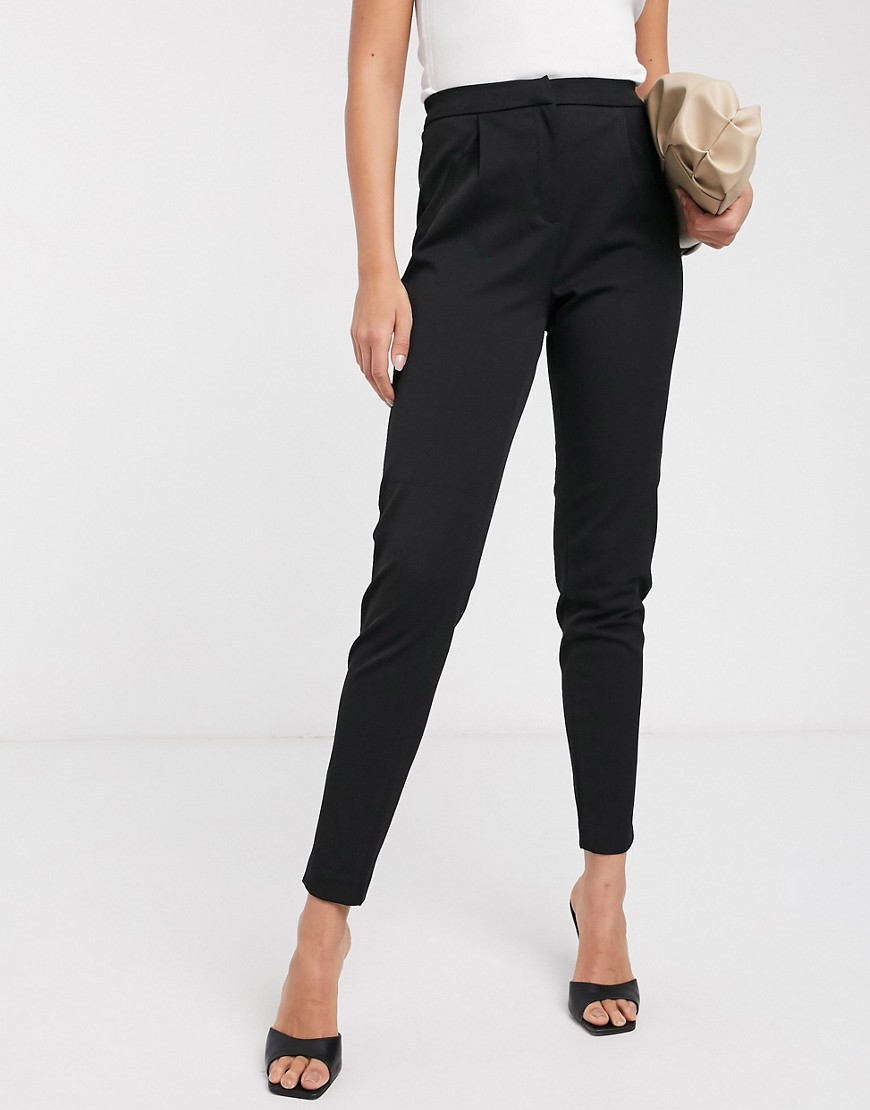 Y.A.S   Tall   Elegante Broek Met Elastische Taille In Zwart by Y.A.S. Tall