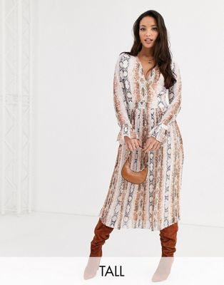 Y.A.S Tall — Overall-kjole med slangeprint