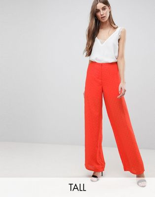 Y.A.S Tall Spot Wide Leg Trouser