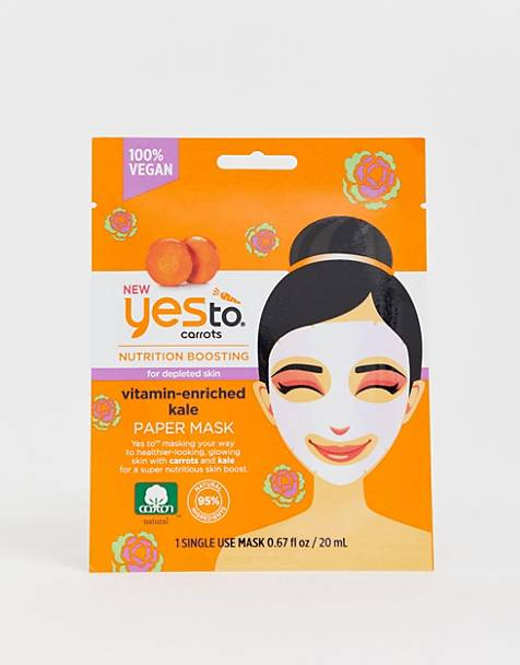 Yes To Carrot & Kale Nutrition Boosting Paper Mask (Single Use)