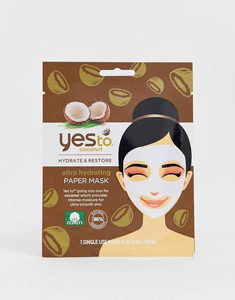 Yes To Coconut Moisturizing Paper Mask (Single Use)