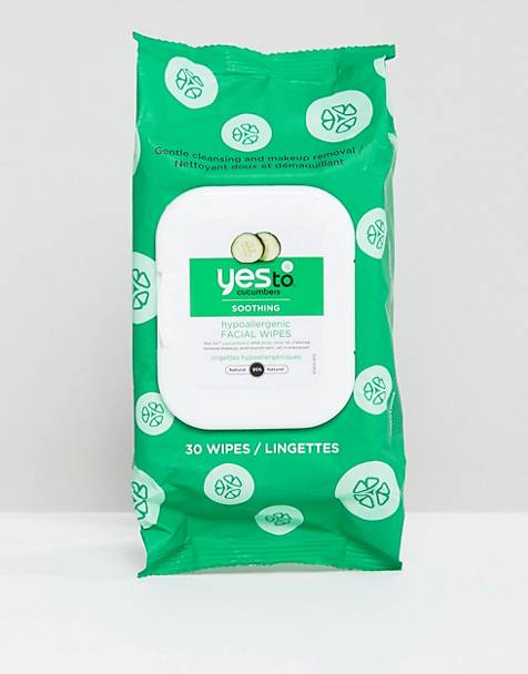 Yes To Cucumbers Calming Facial Wipes For Sensitive Skin 30ct