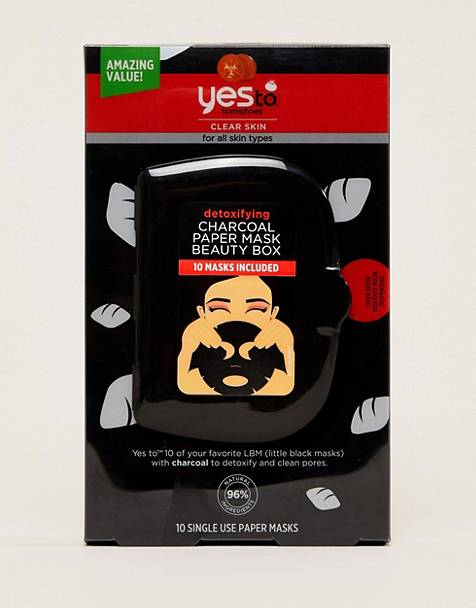 Yes To Detoxifying Charcoal Paper Mask Beauty Box