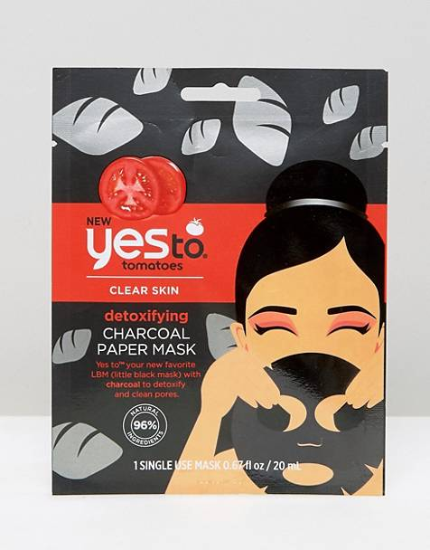 Yes To Detoxifying Charcoal Paper Mask (Single Use)
