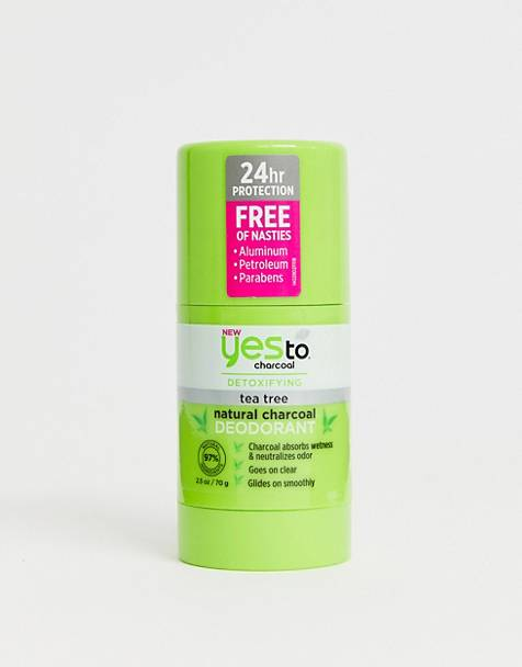 Yes To Natural Charcoal Deodorant - Tea Tree