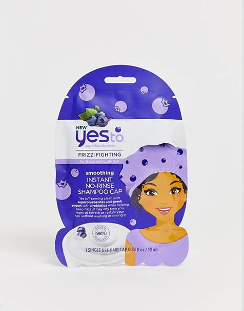 Yes to Superblueberries Smoothing Instant No-Rinse Shampoo Cap Single Use