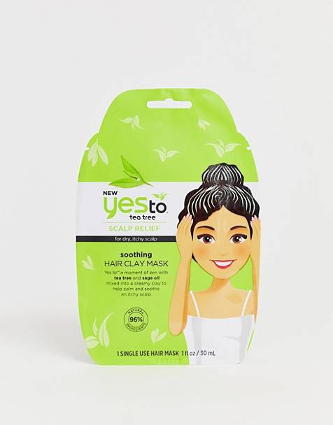 Yes to Tea Tree Soothing Clay Hair Mask Single Use