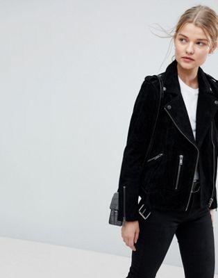 Замшевая байкерская куртка Selected femme