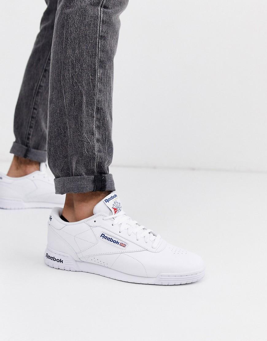 Zapatillas blancas de cuero Ex-o-fit de Reebok-Blanco