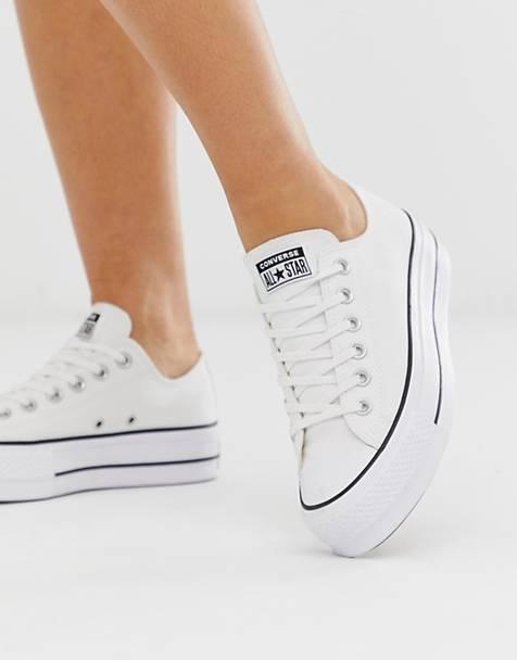 015f2a52 Zapatillas con plataforma en blanco Chuck Taylor Ox de Converse