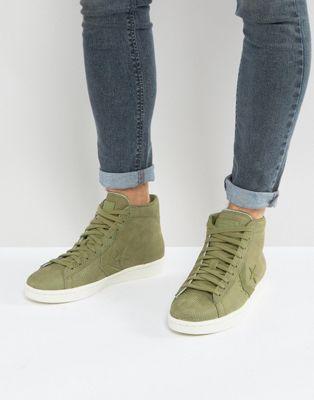 Zapatillas de deporte abotinadas en verde PL 76 155649C de Converse