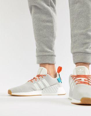 Zapatillas de deporte blancas  CQ3080 NMD R2 Boost Summer de adidas Originals