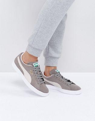Zapatillas de deporte clásicas de ante en gris de Puma