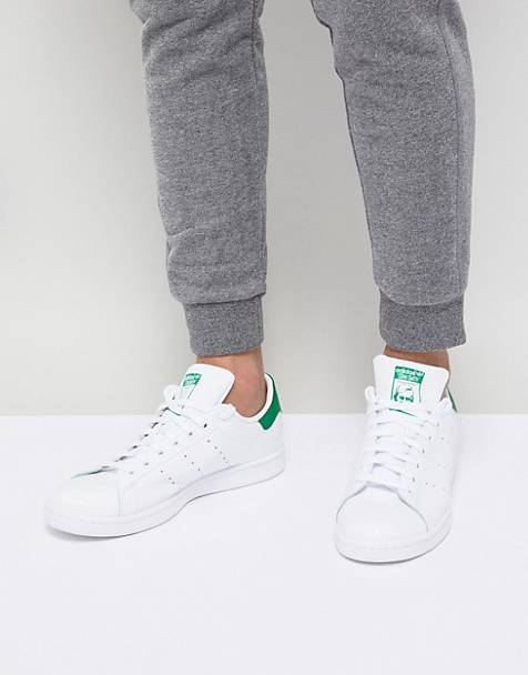 huge selection of 7beb2 4730a Zapatillas de deporte de cuero blancas M20324 Stan Smith de adidas Originals