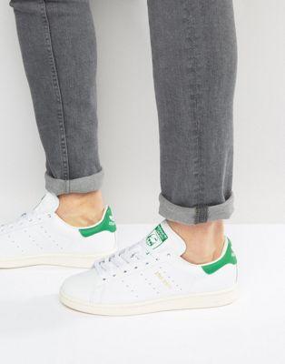 Zapatillas de deporte de cuero blancas Stan Smith S75074 de adidas Originals