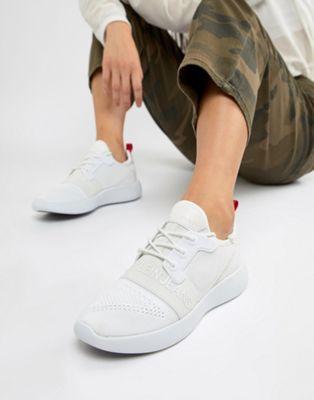 Zapatillas de deporte de punto con logo en blanco Meryl de Calvin Klein