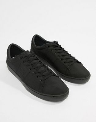 Zapatillas de deporte negras de nailon con diseño a tono Spencer de Fred Perry
