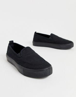 Cierres De Dexter Asos Sin Zapatillas Negra Lona Design tQdshCrx