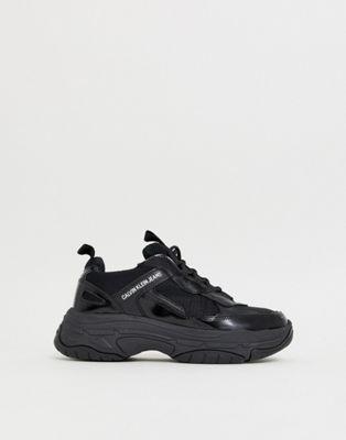 Zapatillas gruesas en negro Marvin de Calvin Klein