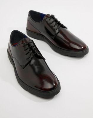 Zapatos Derby brillantes en burdeos de Silver Street
