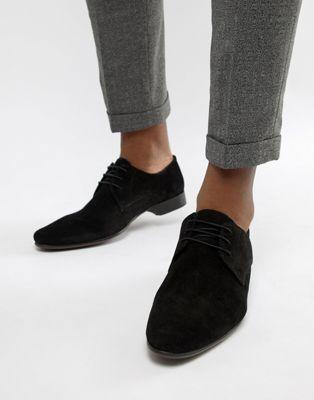 Zapatos Derby de ante negro de ASOS