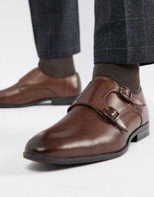 Zapatos Monk de vestir en marrón de Silver Street