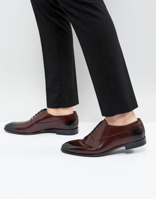 Zapatos Oxford de cuero burdeos con cordones Appeal de HUGO