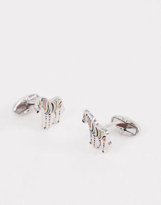 Изображение 1 из Запонки с дизайном зебры Paul Smith
