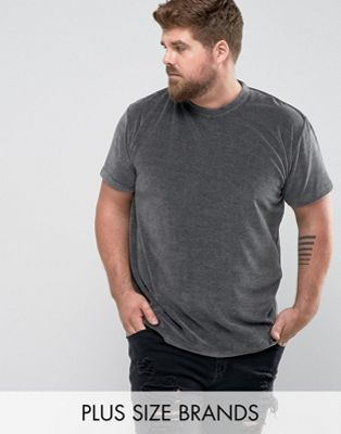 Zeffer PLUS Oversized Velour T-Shirt