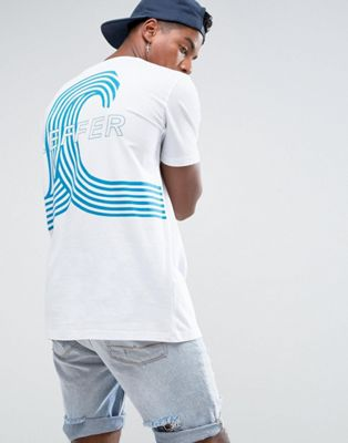 Zeffer Wave Back Print T-Shirt