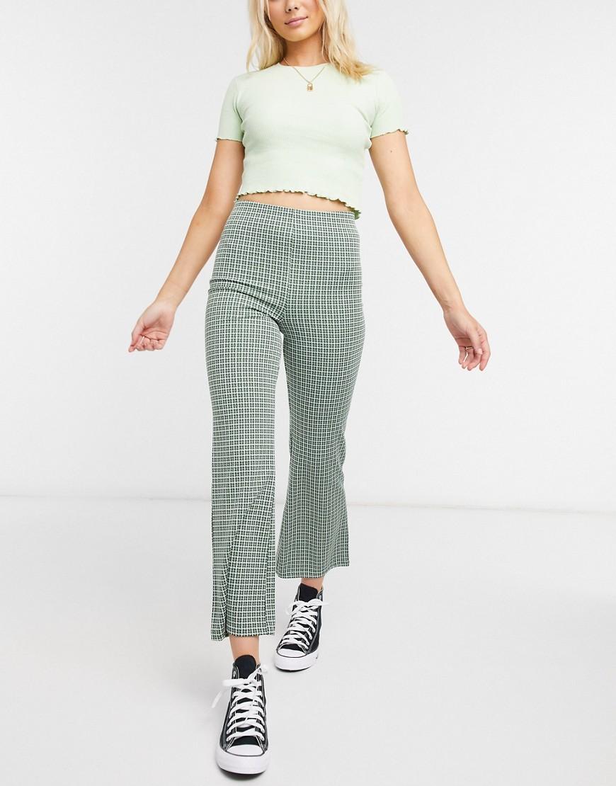 Зеленые брюки клешMonki-Зеленый