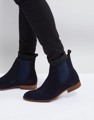 Zign – Chelsea-Stiefel aus marineblauem Wildleder