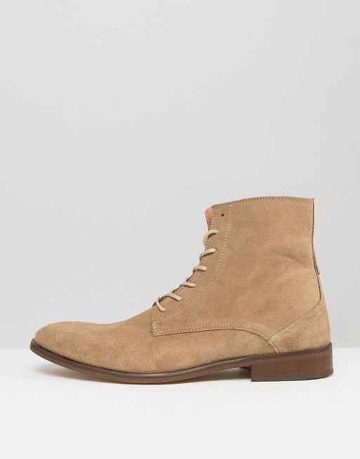 Zign Lace Up Suede Boots | ASOS