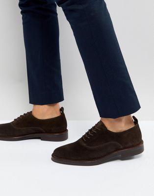 Zign Suede Derby Shoes In Brown