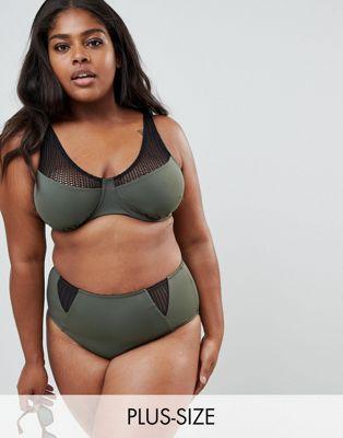 Zizzi - Top bikini con inserti in rete