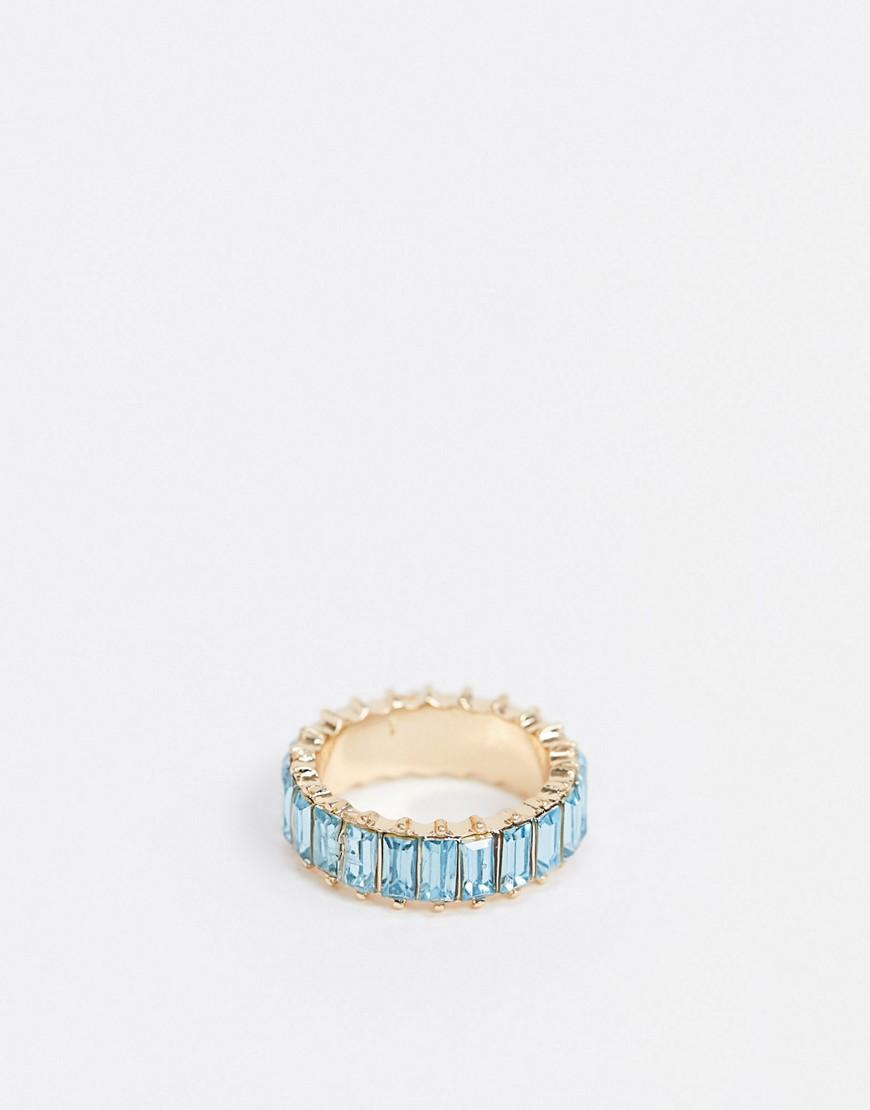 Золотистое кольцо с кристаллами ASOS DESIGN-Золотой