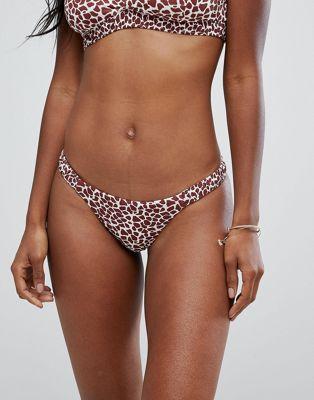 Image 1 sur Zulu & Zephyr - Bas de bikini à imprimé girafe