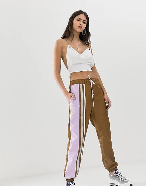 ZYA sweatpants with contrast side stripe